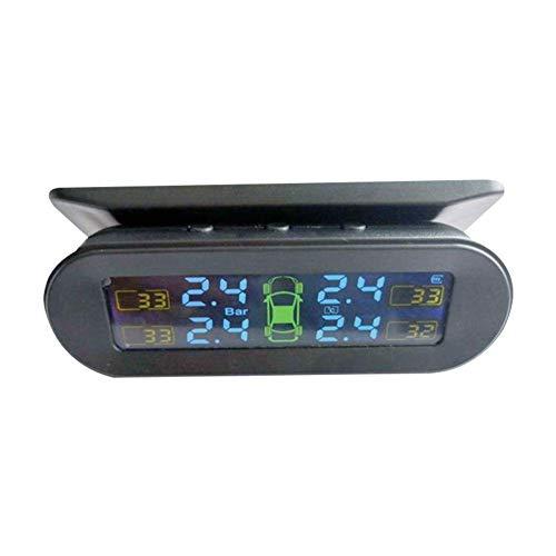 Miloe WP TPMS Reifendruckkontrollsystem Auto Reifendruckmesser Reifendruckprüfer mit 4 Sensor, LCD Display Reifendruck und Temperatur anzeigen für Auto, SUV, KFZ