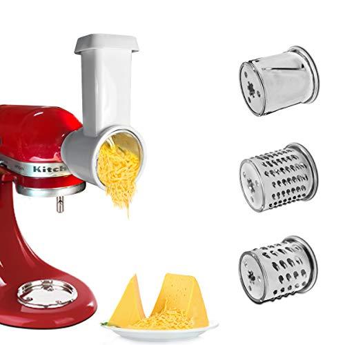 Hobel/Zerkleinerungsaufsatz für KitchenAid Standmixer, Käsereibe Aufsatz, Gemüsehobel Aufsatz, Reibe Zubehör für KitchenAid, Salat Maker