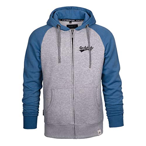 Spitzbub Herren Hoodie Pullover mit Kapuze Sweatjacke Zipper Kapuzenpullover mit Reißverschluss Jens