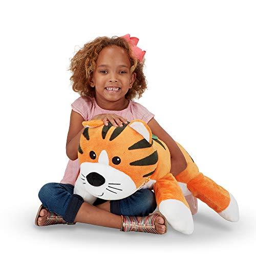 Melissa & Doug Cuddle Tiger Jumbo Plush Stuffed Animal with Activity Card