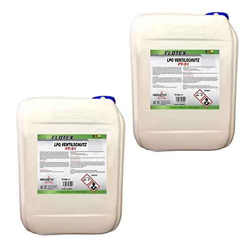 Flotex Permanent LPG Ventilschutz, 2 x 5L Additiv Gas Ventil Schutz
