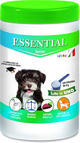 ESSENTIAL Cane Junior Integratore per Cani, Dieta Casalinga e Barf Senza Ossa, Ipoallergenico, 650 gr