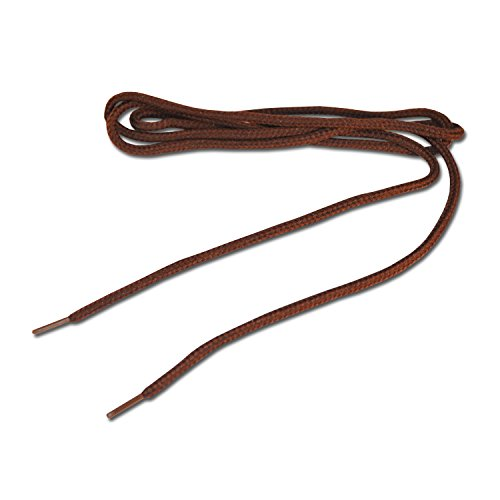 Lacets de skate rond - Marron fonce 4mm x 120 cm (Dark Brown Round Shoelaces)
