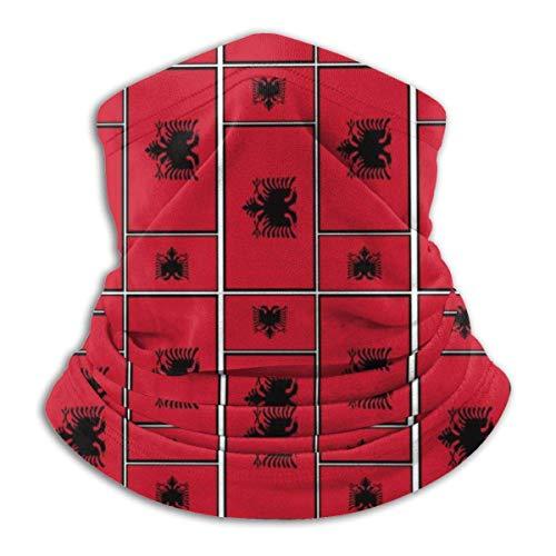 Mathillda vlag Albanië puzzel fleece nek warmer - omkeerbare halsmanchet multifunctionele oorwarmer