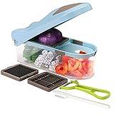 Máquina para cortar en dados la cortadora de verduras - Picadora de cebolla - Máquina para cortar en dados de verduras Dicer Máquina profesional para cortar en dados - Cortadora de alimentos y avellan