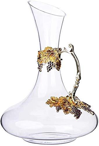 DYB Decantador de whisky Set Decantador de vino creativo Decantador de decoración de cristal, botella de vino de 1,5 l (color # 4)