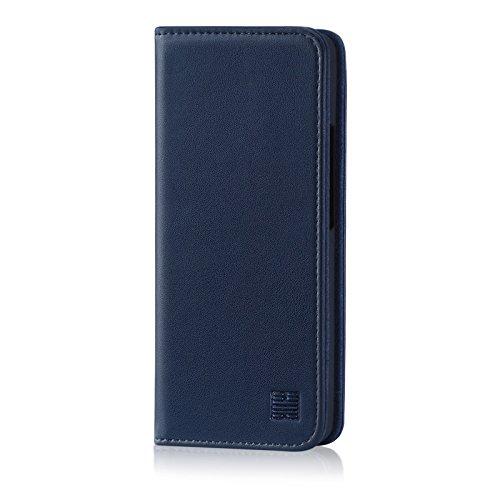 32nd Klassische Series - Lederhülle Hülle Cover für Nokia 8 Sirocco (2018), Echtleder Hülle Entwurf gemacht Mit Kartensteckplatz, Magnetisch & Standfuß - Marineblau