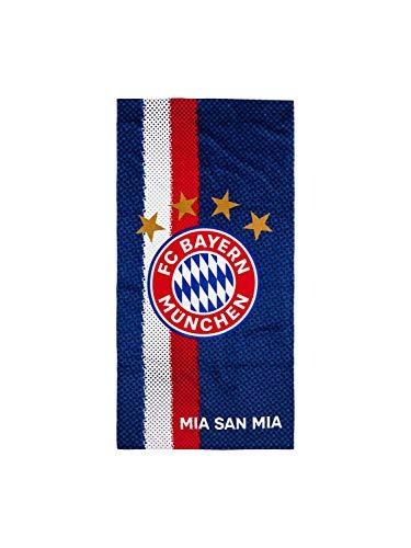 FC Bayern München Strandtuch Logo Blau Sommer Sonne