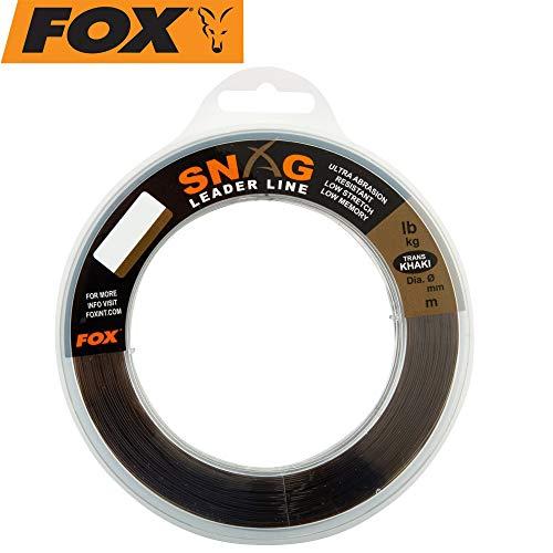 Fox Snag Leader Trans Khaki 80m 0,66mm 50lbs - Schlagschnur zum Angeln auf Karpfen, Vorfachmaterial zum Karpfenangeln