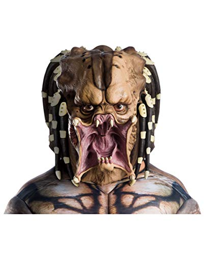Horror-Shop Predator - Vollkopf Latexmaske für Erwachsene als Kostümzubehör für Halloween und Karneval