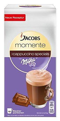 Jacobs Cappuccino Kaffee SPECIALS MILKA, 10 Becherportionen, 220 g