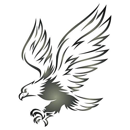 Adler Schablone – wiederverwendbare Wandschablone mit Vogel- und Tiermotiven, für Papierprojekte, Scrapbooks, Wände, Böden, Stoff, Möbel, Glas, Holz usw. S