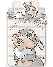 Disney - Set di biancheria da letto, motivo: Bambi, 2 pezzi Dimensioni: 100 x 135 cm, 40 x 60 cm, 100% cotone.
