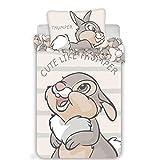 Housse de couette bébé Panpan Disney Bambi 100% Coton Parure de lit 100x135cm Taie 40x60cm