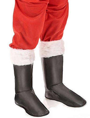 DC sur-Bottes Botte Pere Noel Adulte - Deguisement Noël - Noir - 937