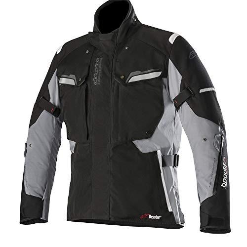 Alpinestars Chaqueta moto Bogota V2 Drystar Jacket Black Dark Gray, Negro/Gris, XL