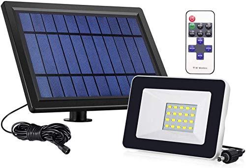 Solar Floodlight Outdoor mit 180 & deg; Winkelbeleuchtung einstellbar und Licht Sensorremote Control LED Solar Garten Flutlicht Außenwandleuchte wasserdicht
