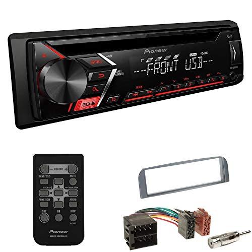EHO Autoradio 1-DIN Einbauset passend für Alfa Romeo GT anthrazit inkl Pioneer DEH-S101UB mit Fernbedienung