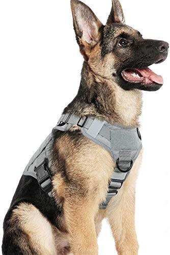 rabbitgoo Hundegeschirr Mittelgroße Hunde Taktische Hundegeschirrweste mit Griff No Pull Sicherheitsgeschirr Verstellbares Gepolstert Brustgeschirr Zuggeschirr