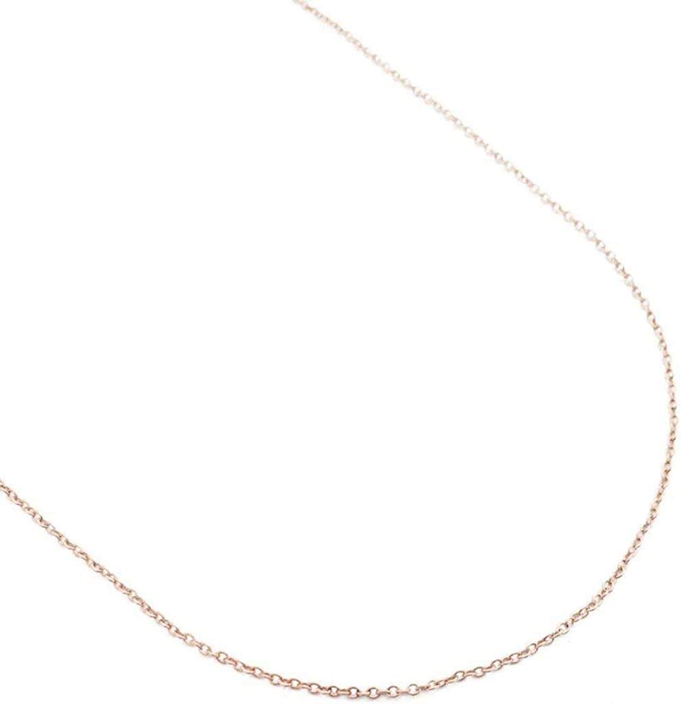HONEYCAT Adjustable Thin Chain Choker Necklace in Solid 14k Gold, Length 13