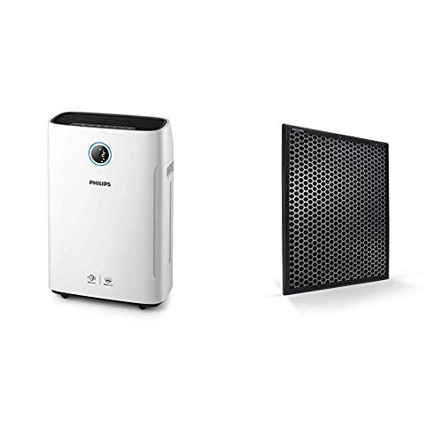 Philips AC3829/10 2-in-1 Luftreiniger und-befeuchter Series 3000i (App-Anbindung, bis zu 80 m²), weiß