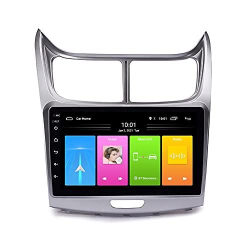 Kilcvt Navegación GPS, 9 in/Android 10 Car DVD GPS Player, para Chevrolet Sail 2010-2013 Soporte Control del Volante/WiFi/USB/Dvr/Bluetooth,4g+WiFi 1g+32g