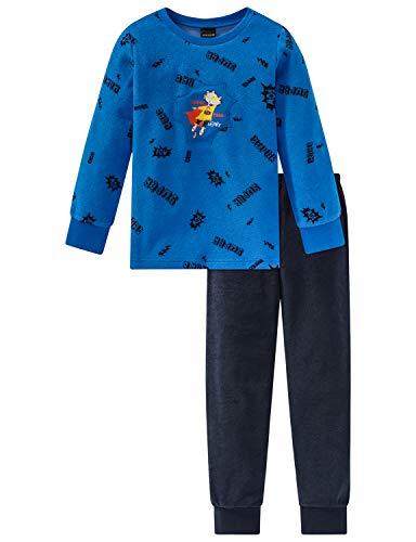 Schiesser Jungen Rat Henry Kn Anzug lang Zweiteiliger Schlafanzug, Blau (Blau 800), 98 (Herstellergröße: 098)
