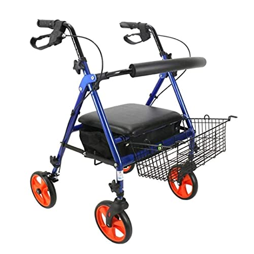 Camminatori per anziani Walker per Seniors Rollator rotella rotante per anziani puleggia disabile carrello pieghevole carrello camminando carrello Bollator Walker, aiuto per mobilità durevole