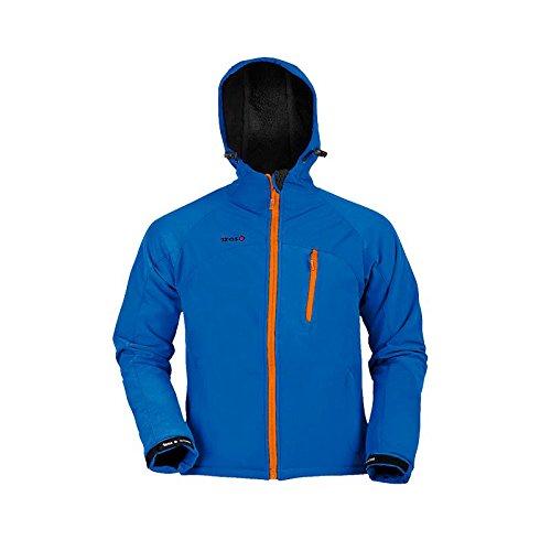 Izas - Moncayo - Veste softshell à capuche pour homme Bleu (Royal/Orange) XL