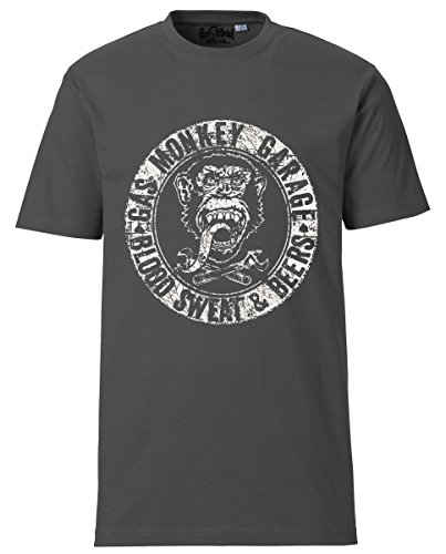 Gas Monkey Garage T-Shirt Blood Sweat and Beers Grey-XL