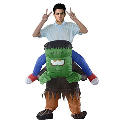 LTSWEET Monster Carry Me Aufblasbares Kostüm Erwachsene Fasching Karneval Junggesellenabschied Halloween Fancy Dress Cosplay Lustig Inflatable Costume,Grün