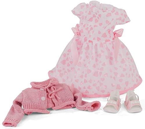 Götz 3403169 Kombination Pink Love - Puppenbekleidung Gr. XL - 4-teiliges Bekleidungs- und Zubehörset für Stehpuppen 45 - 50 cm