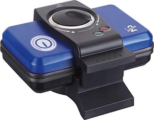 Jata SW507 Sandwichera Azul para 2 Sándwiches XXL Mando regulador de Intensidad de Tostado con Placas Antiadherentes y Almacenaje Vertical Sellado perfecto Fácil limpieza