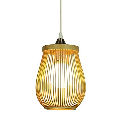 LLT Chino Hecho a Mano de Bambú Colgante de Techo Luz de Techo Luz de Estar Restaurante Linterna Moderna Lámpara de Lámpara Lámpara de Madera Natural Lámpara de Colgante de Estilo Japonés Lámparas E