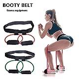 xingkeji 1pcs fitness women booty butt band resistance bands adjustable waist belt for legs and butt ankle resistance belt, leg workout equipment