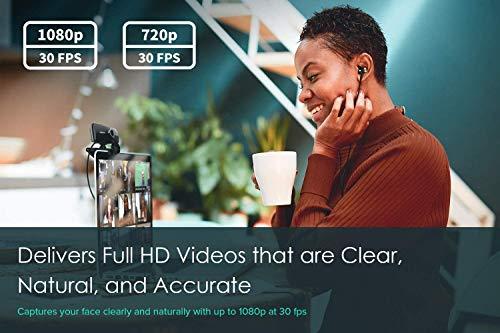 Creative Live! Cam Sync 1080p webcam USB full HD, gran angular, micro integrado, cubre-objetivo para proteger privacidad, montaje para trípode, videollamada high-res, grabación y streaming para PC/Mac miniatura