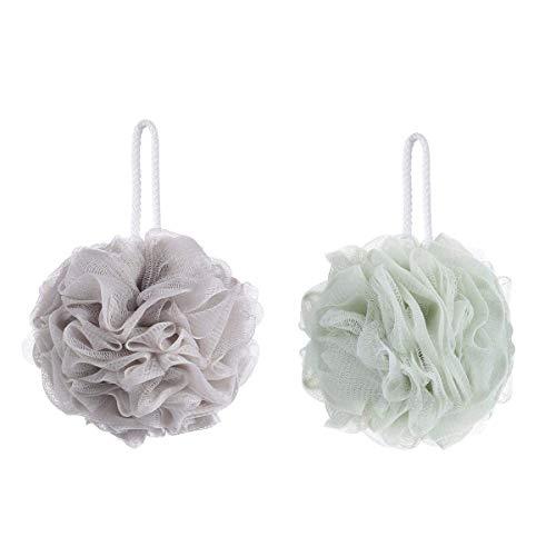 Duschschwamm für Bad, Luffa, Peeling, Netz-Bürste, Duschschwamm, Khaki & Grün, 2 Stück