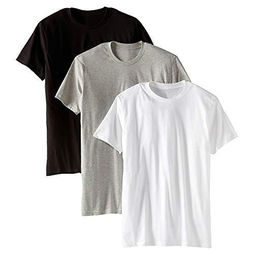 Kit com 3 Camisetas Básicas Masculina Algodão (Colors, G)