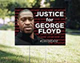 NOT BRANDED Black Lives Matter Sign, Justice for George Floyd, icantbreathe, Printed on Both Sides, BLM Lawn Sign - Includes Stake