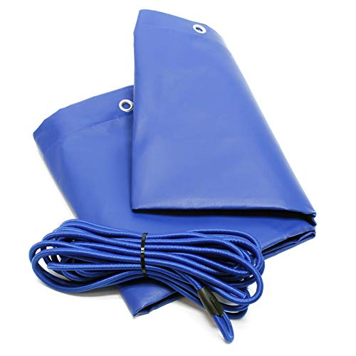 WilTec Bâche de Protection Plate Remorque 2575x1345x50mm avec Tendeur Imperméable à l'Eau et au UV