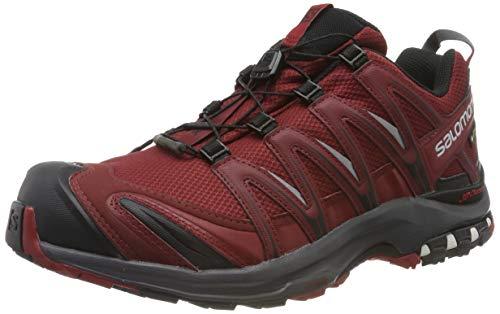 Salomon Herren Trailrunning-Schuhe, XA PRO 3D GTX, Farbe: Rot (Syrah/Ebony/Red Dahlia), Größe: 43 1/3