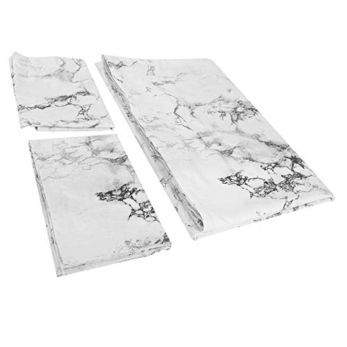 zcyg Juego de funda de edredón, juego de cama de mármol impreso, funda de edredón de poliéster, funda de edredón de 230 x 230 cm, funda de edredón y 2 fundas de almohada