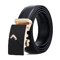 男性ベルト自動バックルブラック (Belt Length : 120cm 40to43 inch, Color : YD11)