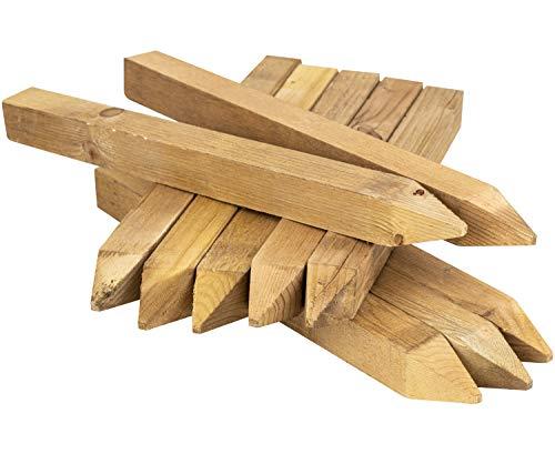 Woodside 300 mm (12 tum) Fyrkantiga trästaket staket, tryckbehandlade sitspinnar, trädgårdsstaketstolpar (paket med 20)