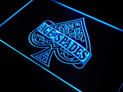 ADV PRO Enseigne Lumineuse s214-b Ace of Spades Casino Poker New Neon Light Sign