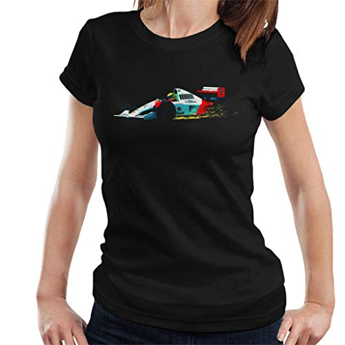Motorsport Images Ayrton Senna McLaren MP4 6 Sparks Fly Women's T-shirt