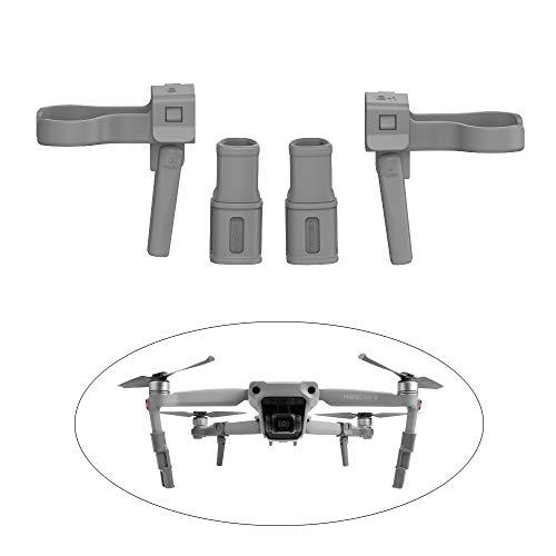GoolRC- Tren de Aterrizaje Compatible con dji Mavic Air 2 Sunnylife Tren de Aterrizaje extendido Ajustable Piernas extendidas Pies de Aterrizaje Soporte para piernas Accesorios para Drones