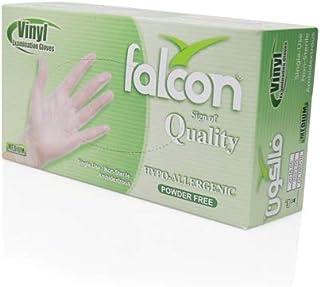 Falcon Vinyl Gloves - Clear Powder Free (Medium)