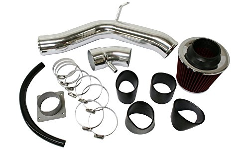 Cold Air Intake for Nissan Altima 02-06 2.5L Kit Polished 2-Piece Intake Tube W/Sensor Hole