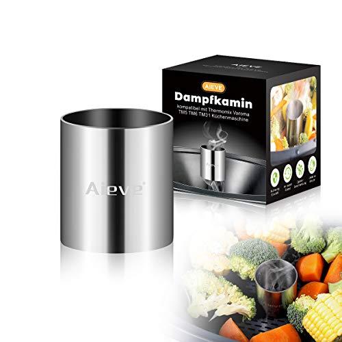 AIEVE Dampfkamin aus Edelstahl Zubehör für Varoma Thermomix TM5 TM6 Küchenmaschine
